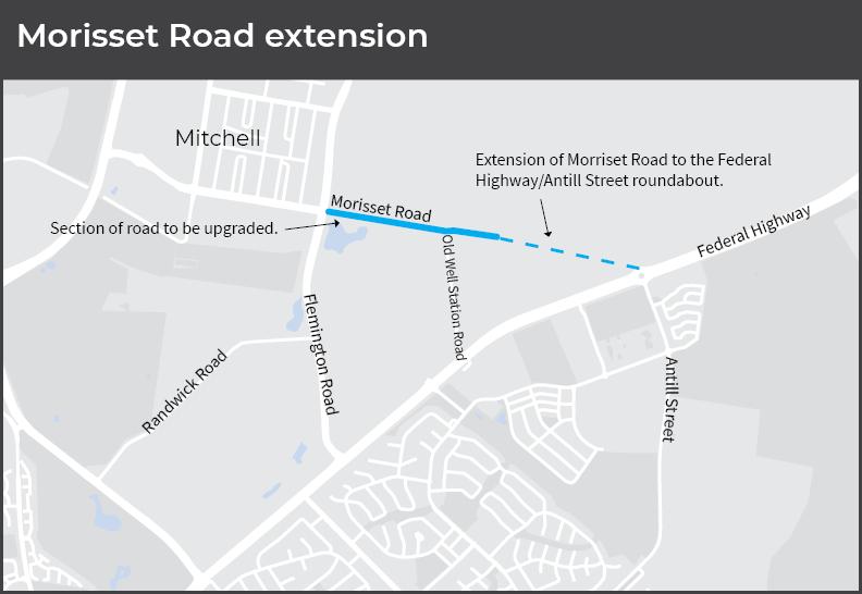 Locational map of Morisset Road
