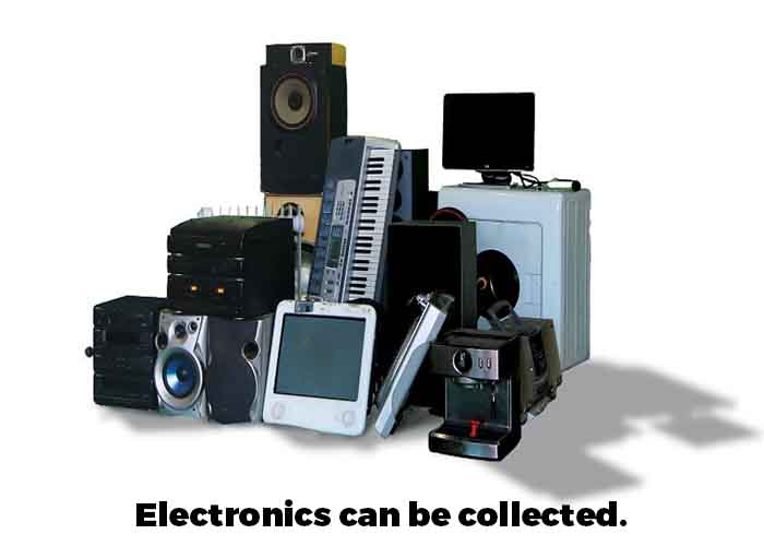 Electronics can be collected through the service