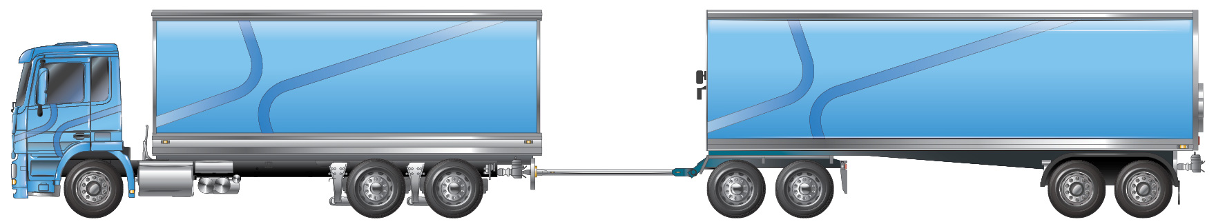 Truck and dog trailer