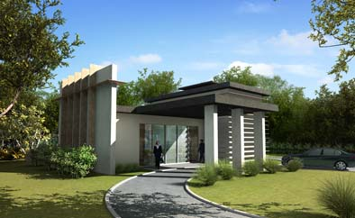 Artist impression of proposed crematorium