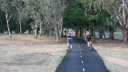 A cycling path