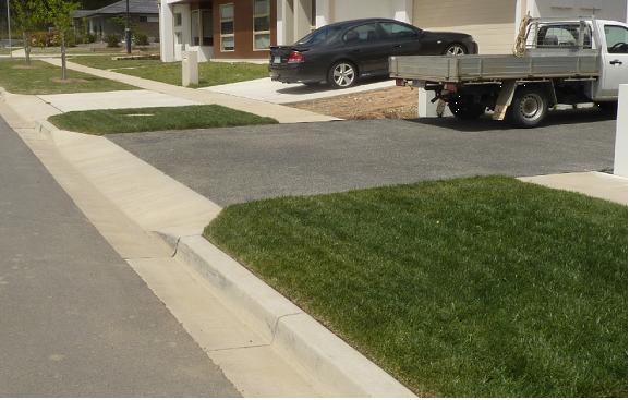 Suburban driveway